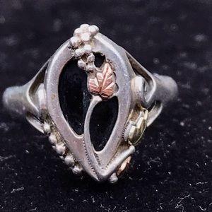 Vintage 12k sterling black hills gold ring